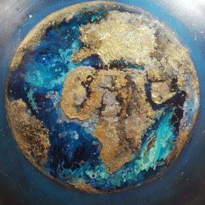 Présentation des toiles «Earth» sur France 3 Alsace