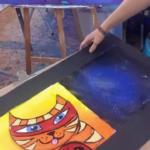 Peindre un chat dans le style de Nathalie FALCK