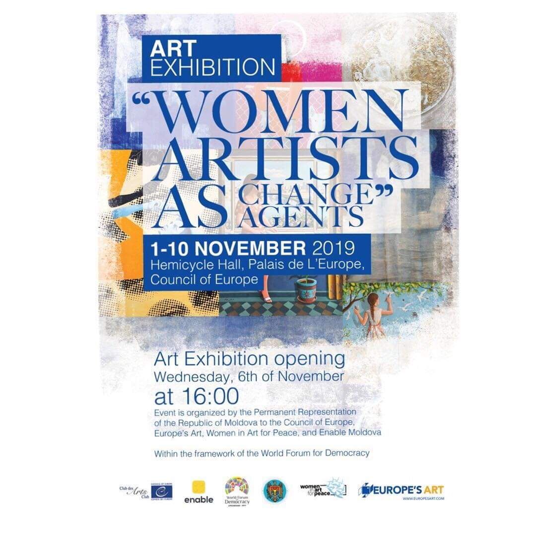 Woman in Art for peace Conseil de l'Europe Nov 2019